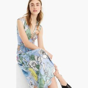 Pastel floral maxi dress by J Crew NWT